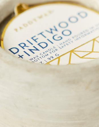 Driftwood and Indigo Candle
