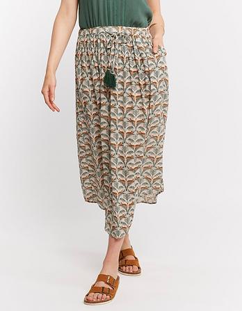 Sienna Lounging Leopard Midi Skirt