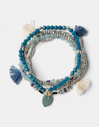 Multi Stretch Bead Bracelet