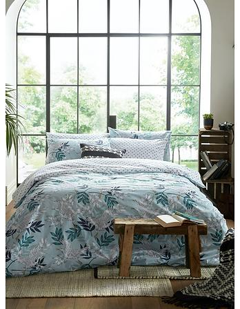 Oriental Crane King Size Duvet Cover Set