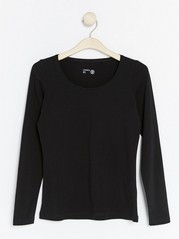 Long Sleeve Top Black