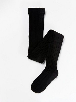 Cable Knit Tights Black