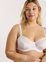 Attract Unpadded Bra White