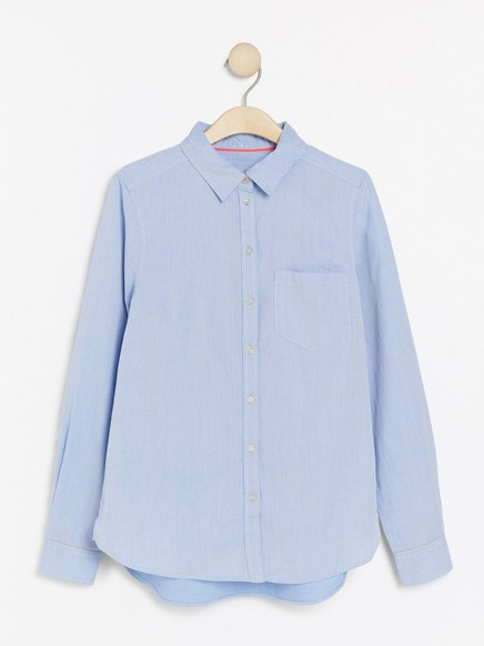 Košile z bavlny Modrá
