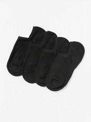 Sada čtyř párů kotníkových ponožek Černá