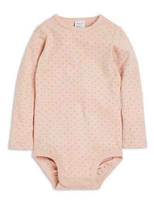 Patterned Bodysuit Pink