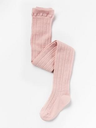 Cable Knit Tights Pink