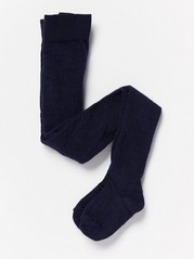 Tights in Wool Mix Blue