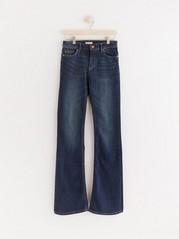 KAREN Mörkblå bootcut jeans Blå