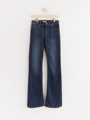 Mørkeblå KAREN-jeans med sleng Blå