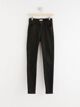 VERA Black skinny jeans with high waist  Black