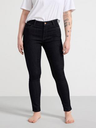 TOVA Mörkblå slim fit jeans  Blå
