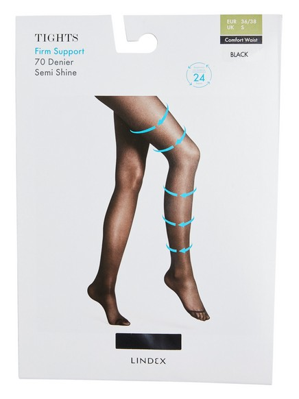 Firm Support Tights 70 denier Black