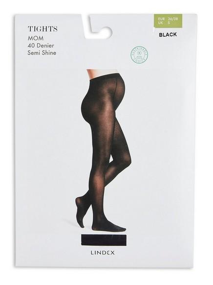 Těhotenské punčochové kalhoty 40 DEN Černá