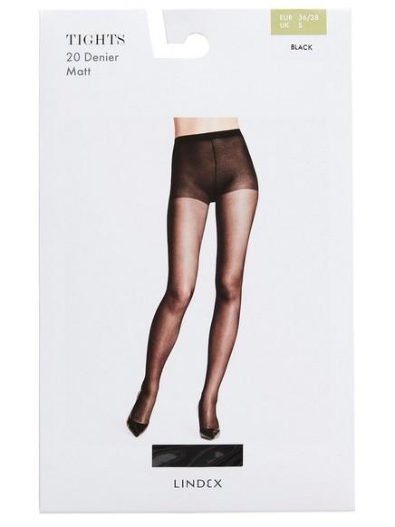 Punčochové kalhoty 20 DEN Černá