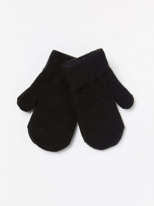 2-pack Mittens Black