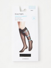 Medium Support Knee Highs Black