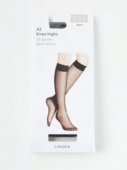 2-pack Knee Highs Black