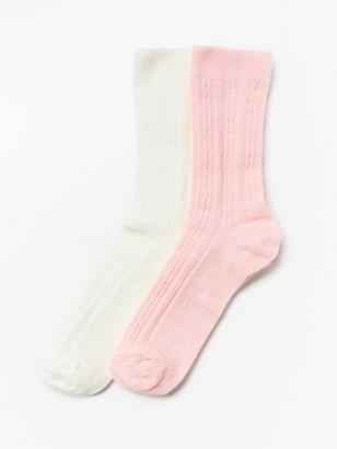 2-pack wool blend socks Pink
