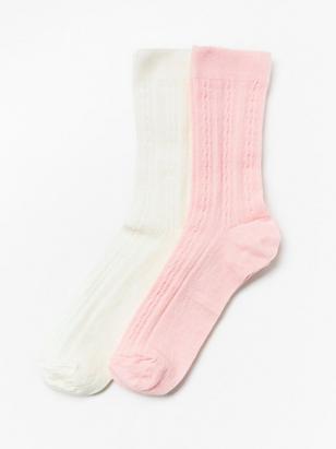 2-pack Wool Mix Socks Pink
