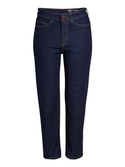 Straight high jeans Blå