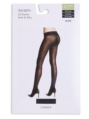 Bezešvé punčochové kalhoty 50 DEN Černá