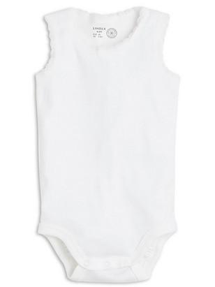 Ermeløs body Hvit
