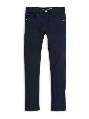 Narrow Twill Trousers Blue