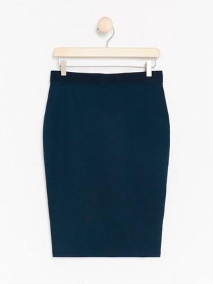Jersey Pencil Skirt Blue