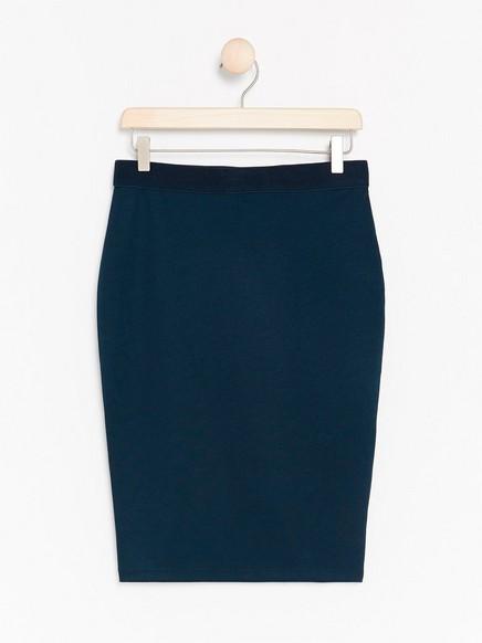 Pouzdrová žerzejová sukně Modrá