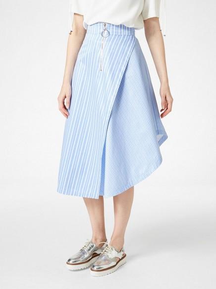 Asymetrická sukně Bílá