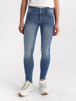 LILLY Blå slim fit shaping jeans Blå