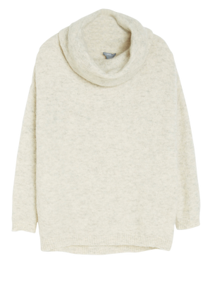 Cowl neck Sweater Beige