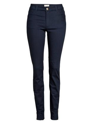 TOVA Slim Twill Trousers Blue