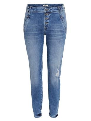 MAIA Blå jeans med avsmalnat ben  Blå
