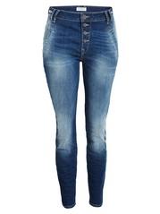 Blå, avsmalnet MAIA-jeans Blå