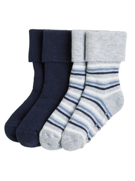 2-pakning sokker Blå