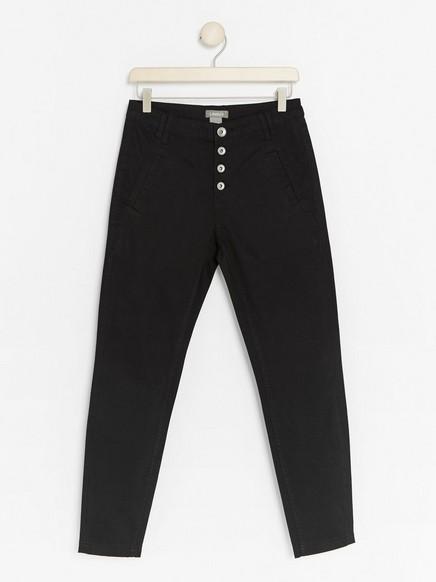 Zúžené kalhoty MAIA Černá