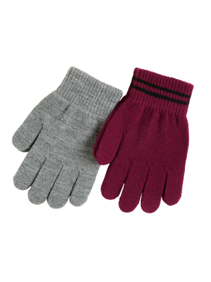 2-pack Knitted Gloves Red