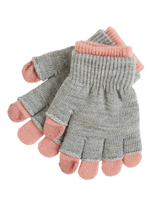 Double Knitted Gloves Pink