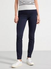 Kalhoty JONNA svysokým pasem Modrá