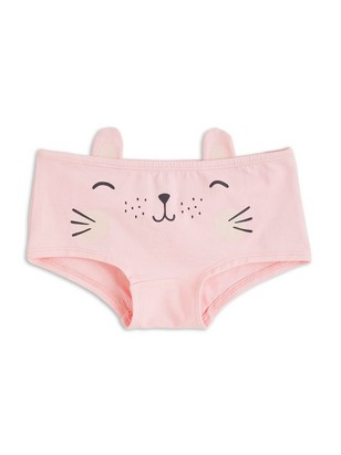 Briefs with Cat Print Pink