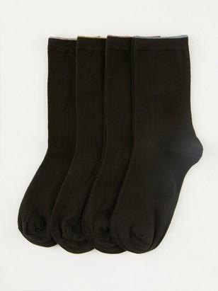 4-pack sockor Svart