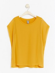 Top in Lyocell Blend  Yellow