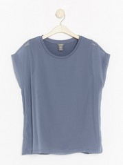 Top in Lyocell Blend  Grey