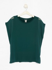 Top in Lyocell Blend  Green