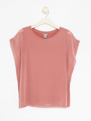 Top in Lyocell Blend  Pink