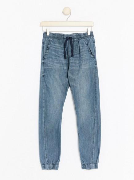 Volné kalhoty Modrá