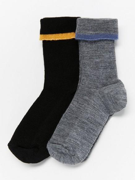 2-pakning sokker i ullblanding Svart