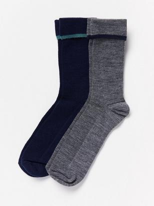 2-pack Wool Mix Socks Blue